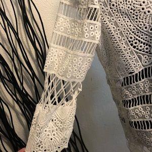 Rafaella Jackets & Coats - Rafaela White Lace Jacket Size PM
